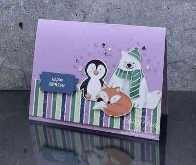 Stampin' Up! Penguin Place card www.stampingsmiles.com