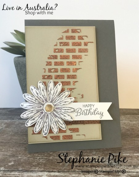 Stampin' Up! embossed embossing paste