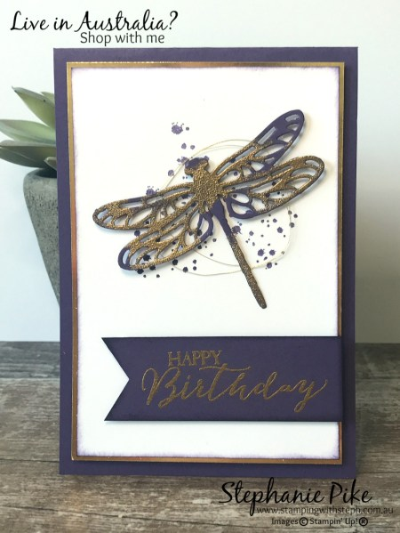 Dragonfly dreams in Elegant Eggplant!