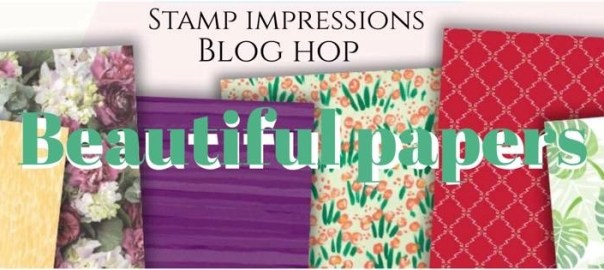 Beautiful Papers blog hop Stampin Up