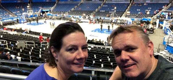 Basketbal wedstrijd Orlando Magics
