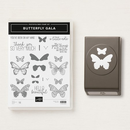 Butterfly Gala bundle en butterfly duet punch stampin up ponsen
