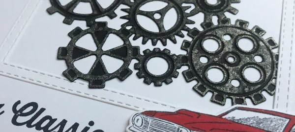 Geared up garage stampin up mannen set