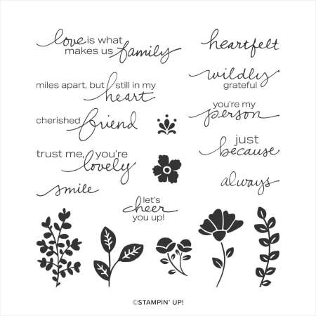 lovely you, stampin up, stampin treasure, cling stamp