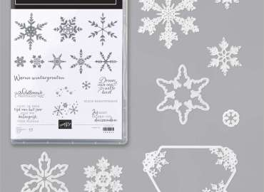winterwensen, sneeuvlokjesstansen, snowflake wishes, many snowflakes, dies, stampin up, stampin treasure, bundle, productpakket