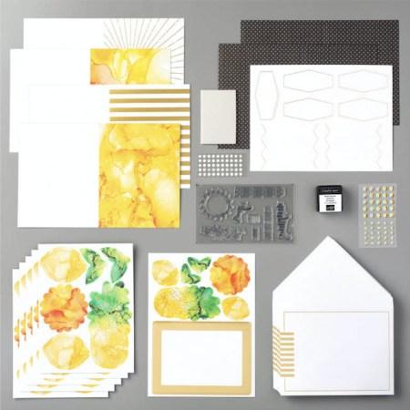 box of sunshine, zonneschijn, paper pumpkin, stampin up, stampin treasure, zolang de voorraad strekt, inhoud