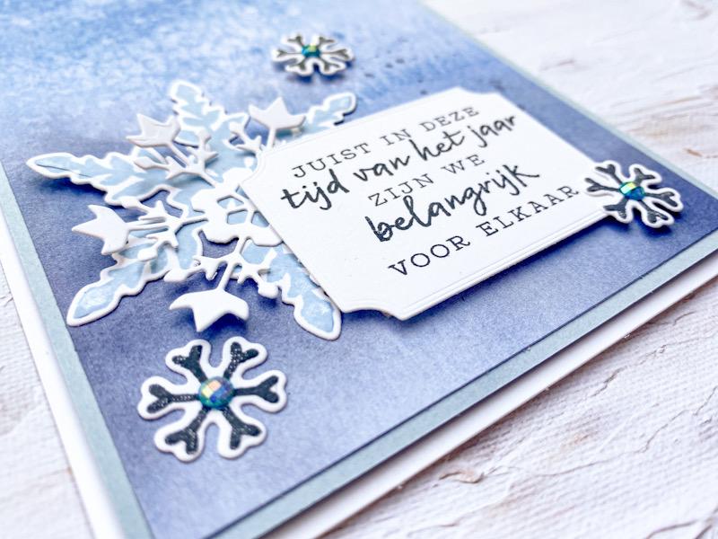 winterpracht, snowflake splendor, desinger paper, papier met design, sneeuwvlokken, kerst, stampin up, stampin treasure