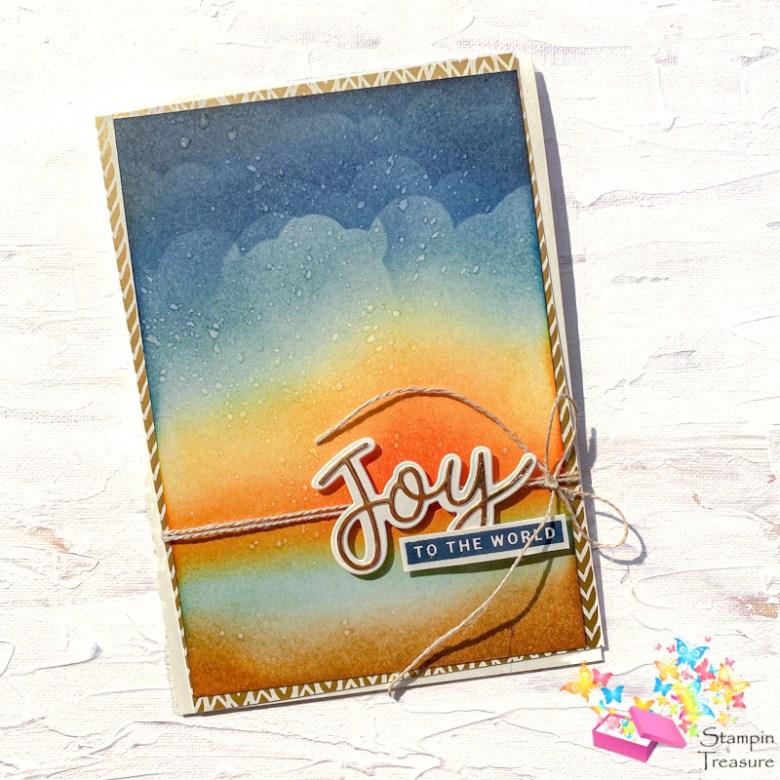 Joy to the World, Peace, Joy, stampin up, stampin treasure, spons techniek, sponge