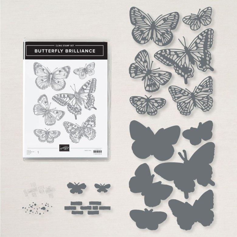 vlinderboeket, brilliant wings, stampin up, stampintreasure, craftingbox, fladderende vleugels