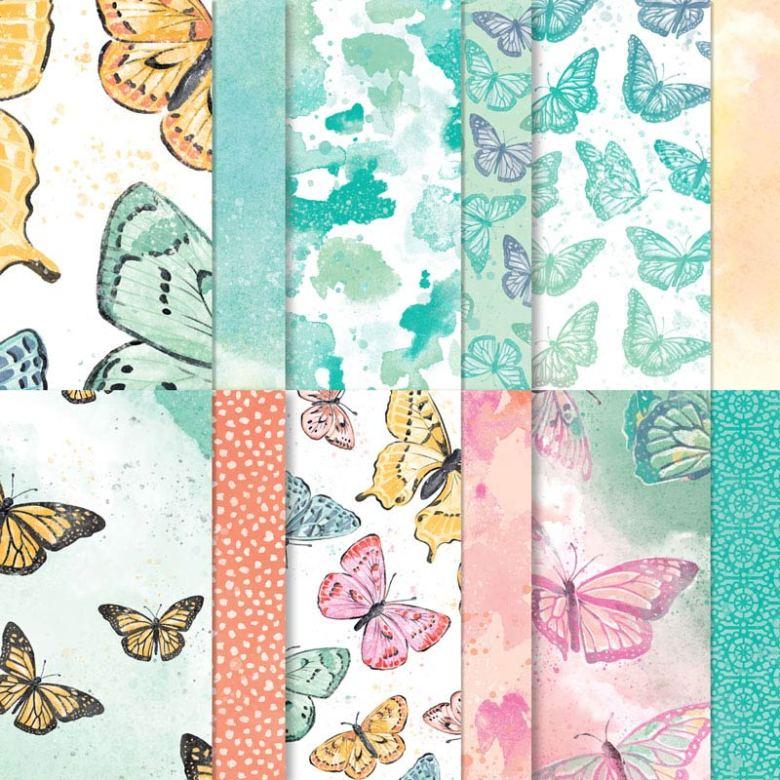 butterfly bijou, designpapier, designer series paper, stampin up, stampin treasure