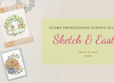 sketch, easter, blog hop, stamp impressions, stampin treasure