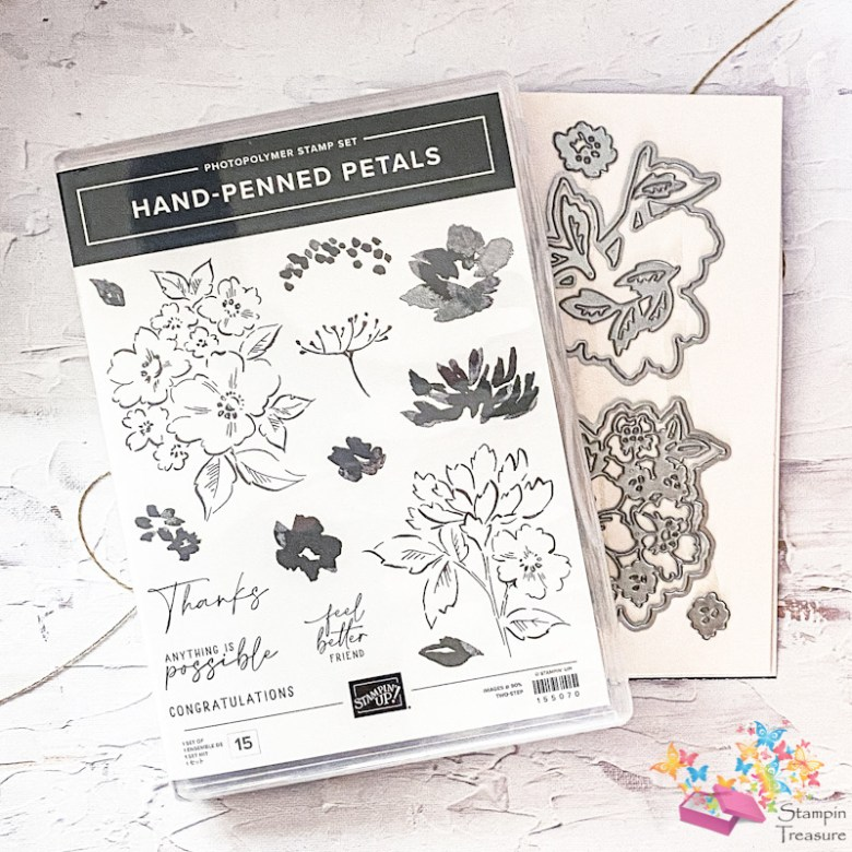 hand penned petals, stampin up, stampin treasure, bundle, productpakket
