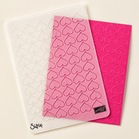 Happy Heart Textured Impressions Embossing Folder