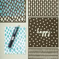 Happy Patterns Decorative Masks  by Stampin' Up!