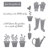 Gift from the Garden Wood-Mount Stamp Set by Stampin' Up!