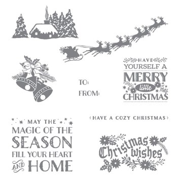 Cozy Christmas stamp set, Stampin' Up!