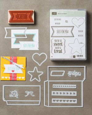 You're So Sweet Stamp Set & Mini Treat Bag Thinlits Bundle, Stampin' Up!