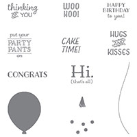 Sale-a-Bration Party Pants Stamp Set
