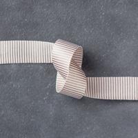 "Tip Top Taupe 5/8"" (1.6 cm) Mini Striped Ribbon"