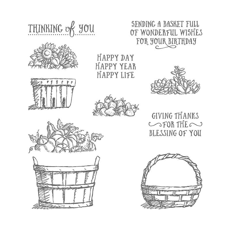 Basket Of Wishes Photopolymer Stamp Set