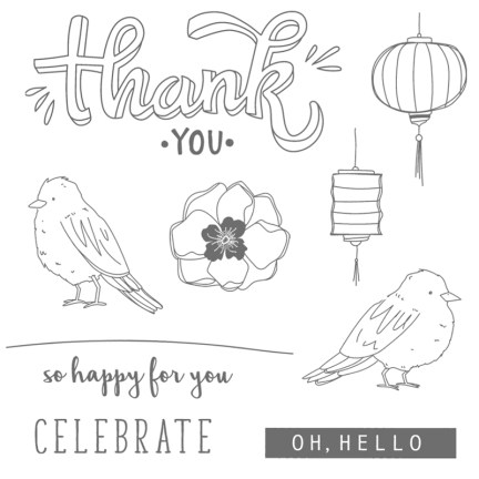 Color Me Happy Clear-Mount Stamp Set