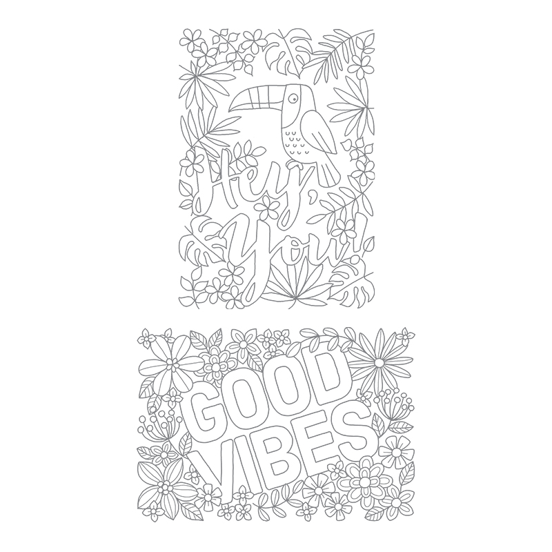 Good Vibes Clear-Mount Stamp Set