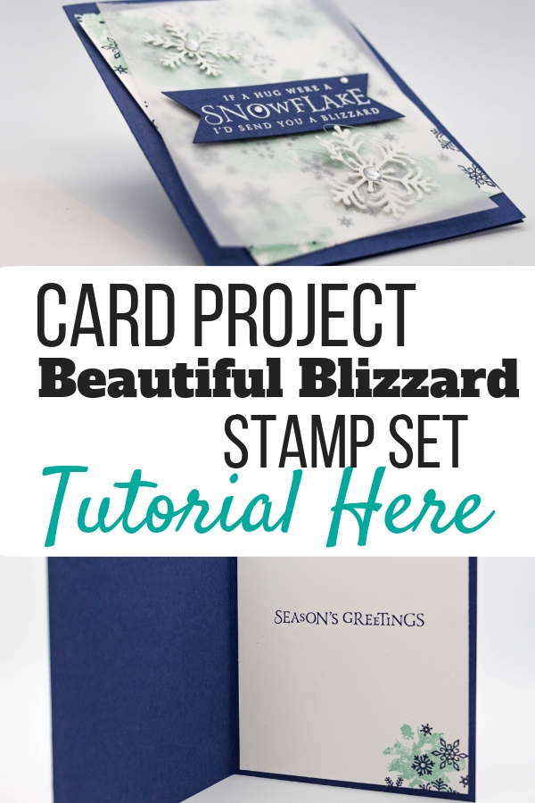 Create this Beautiful Christmas card with the Stampin' Up! Beautiful Blizzard Stamp Set and Blizzard Thinset. card tutorial | beautiful blizzard stampin up cards | beautiful blizzard su | beautiful blizzard bundle | christmas cards | christmas cards handmade | christmas cards dyi | snowflake cards | snowflake cards handmade | snowflake cards stampin up snow flake | #stampmesomelove #cardtutorial #christmascards