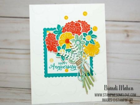 Stampin' Up! Beautiful Bouquet card tutorial | bermuda bay | calypso coral | mint macaron | card tutorials | #stampmesomelove #stampinup #papercraft