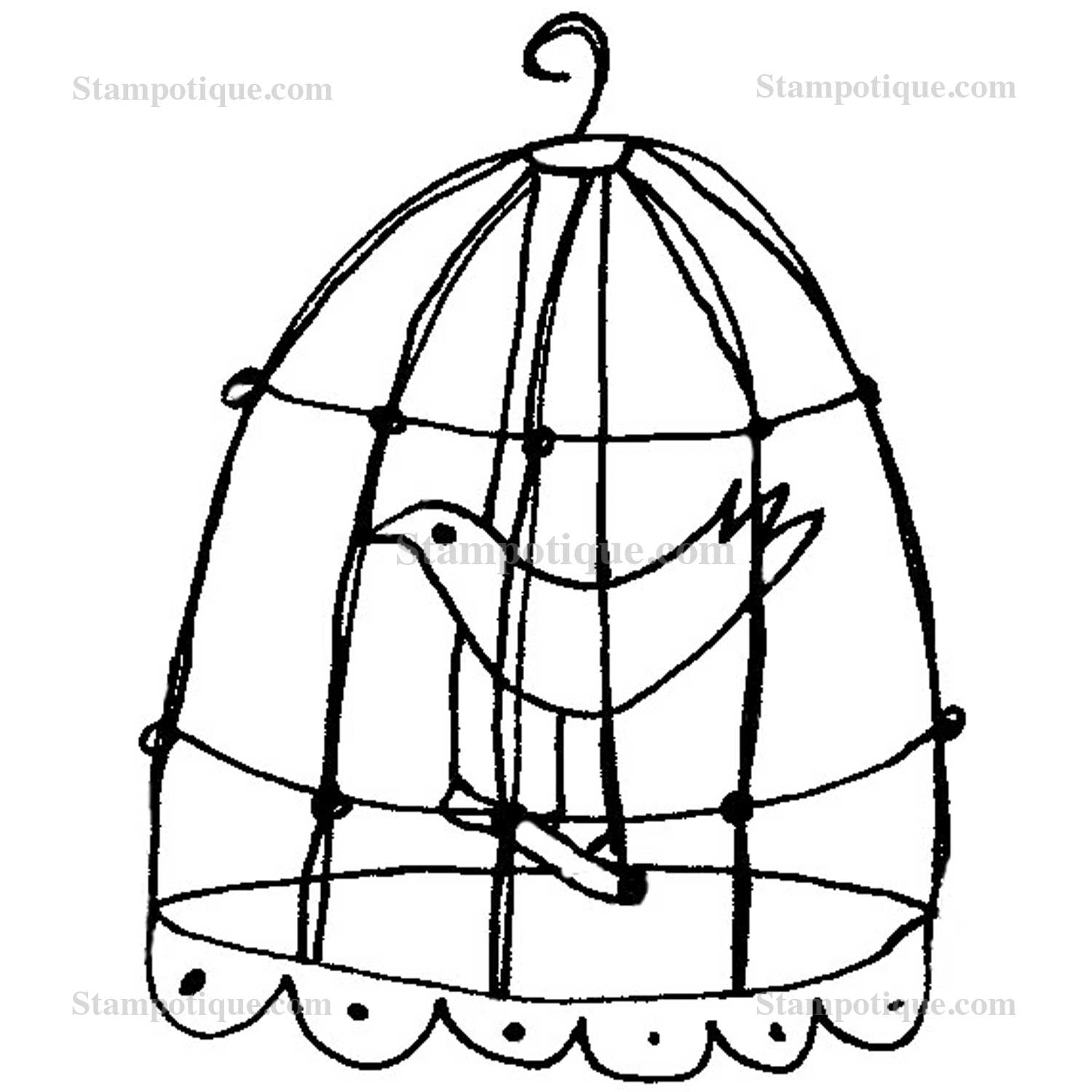 Coloring Pictures Of Birds In Cages Coloring Pages