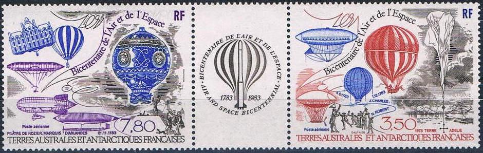 Sello emitido por Territorios franceses del Sur (Antártida), en 1984.
