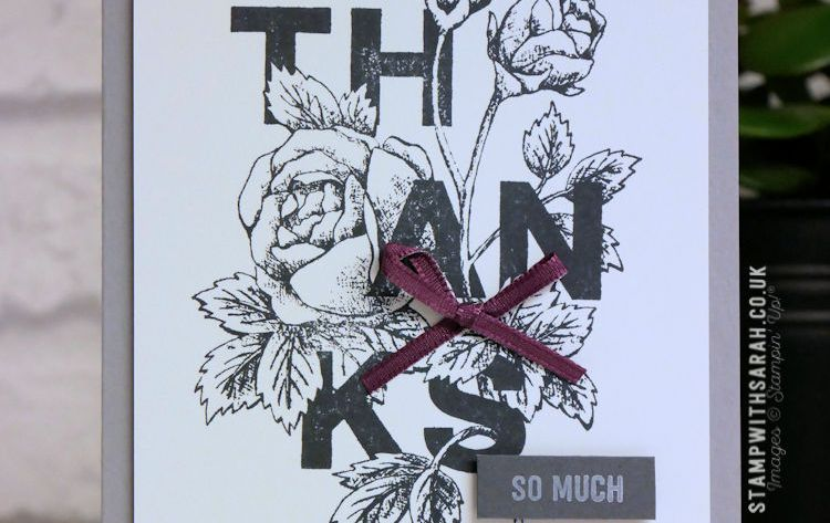 Saying Thanks with the Floral Statements stamp set from Stampin' Up!