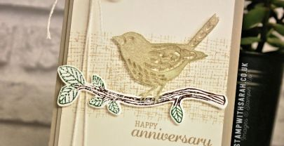 Wedding Anniversary card using the Best Birds stamp set and dies from Stampin' Up! | VIDEO