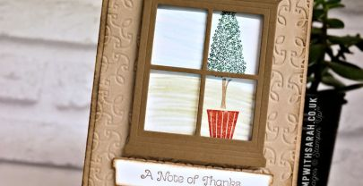 Look through the window with Vertical Greetings stamp set from Stampin' Up! | VIDEO