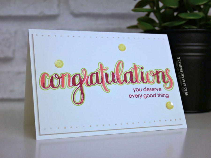 Congratulations card using the Amazing Congratulations stamp set ...