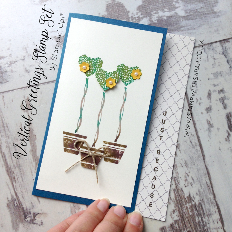 Beautiful heart trees using Vertical Greetings Stamp Set by Sarah Berry for Hello! Annual Blog Hop Week 7
