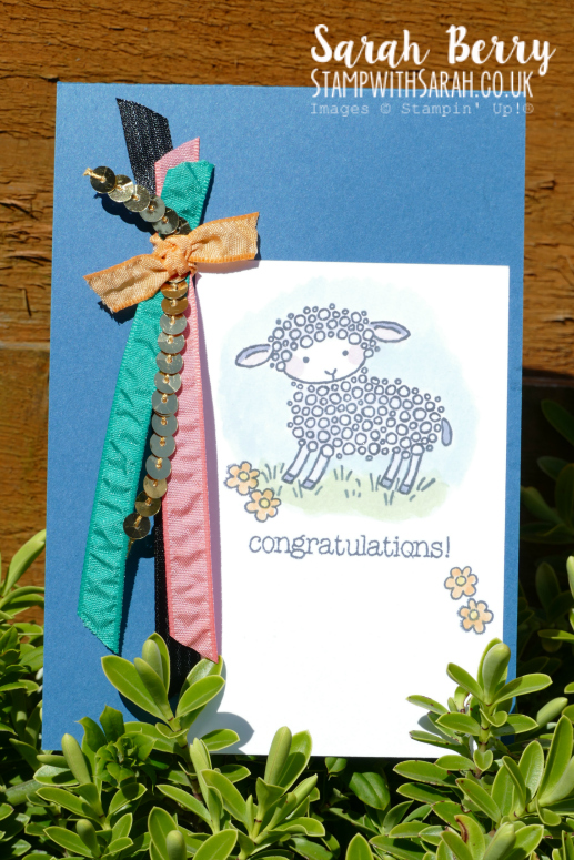 Farewell to Easter Lamb you're so cute!! #stampinup #stampwithsarah