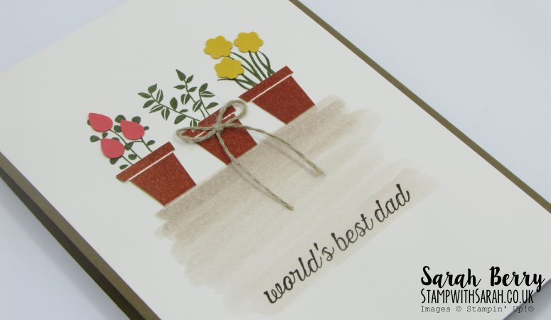 From the Garden card for World's Best Dad #stampinup #stampwithsarah #gvachieversbloghop