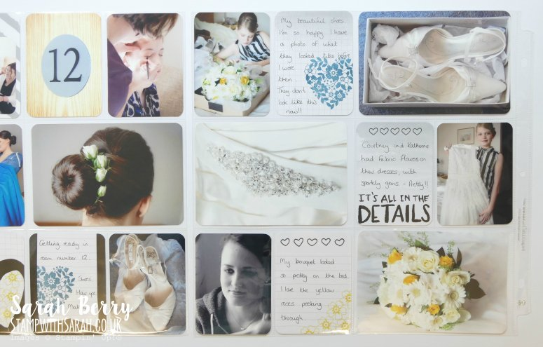 Making a start on my Project Life Wedding Album, page 2 for Mediterranean Blog Hop #gvachieversbloghop by #stampwithsarah #stampinup