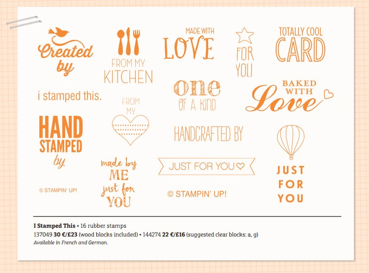 New stamp set, I stamped this available from 2nd August - 31st May 2016