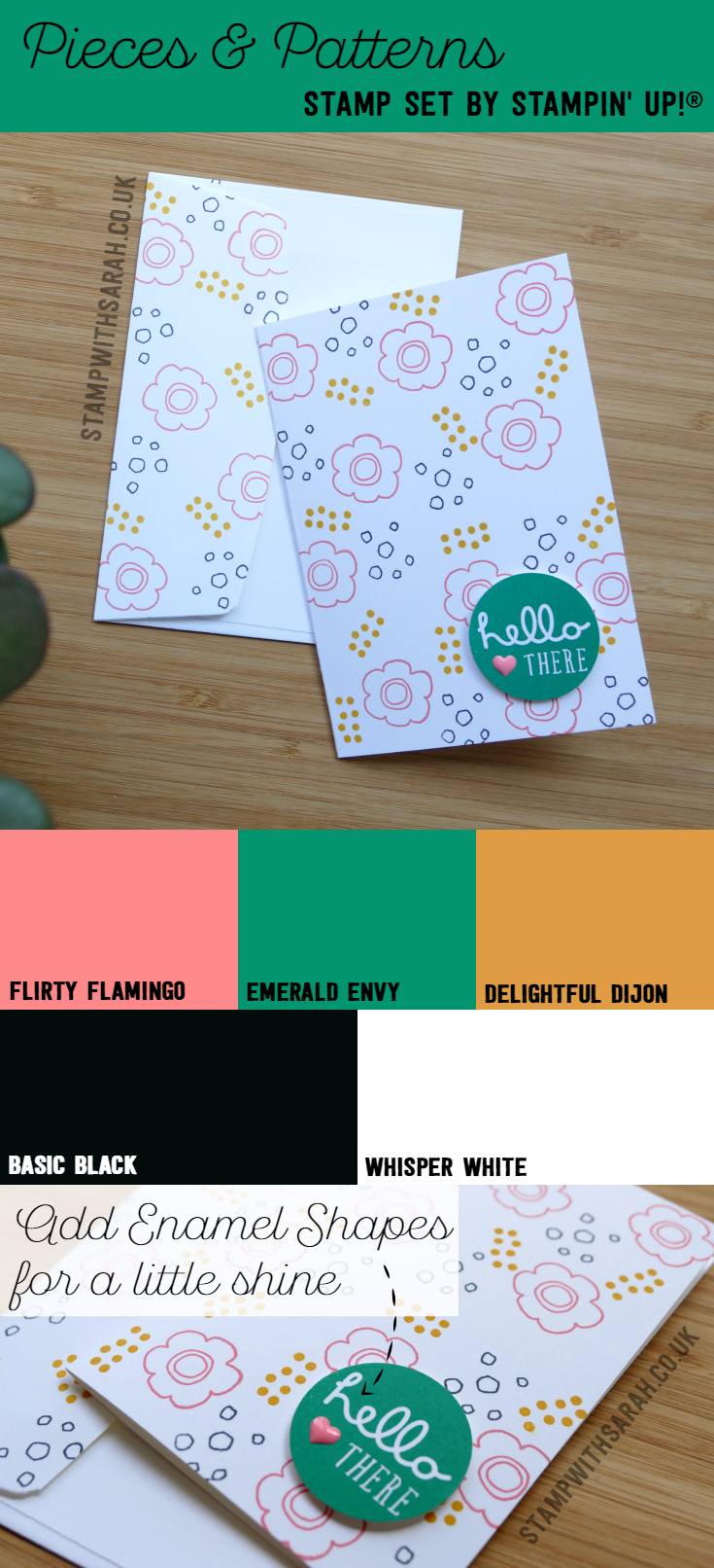 Pieces & Patterns stamp set by stamping up coming June 1st! My favourite colour combination right now!