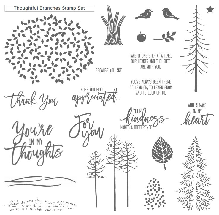 Thoughtful Branches Stamp SetAvailable 2nd August 2016!