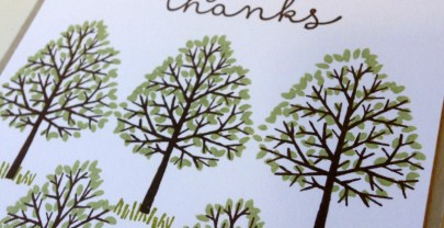 Totally Trees Thank you cards by Stampin' Up!