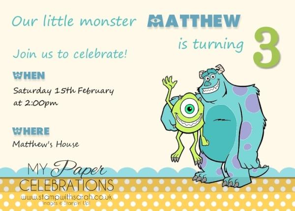 MDS birthday party invitation
