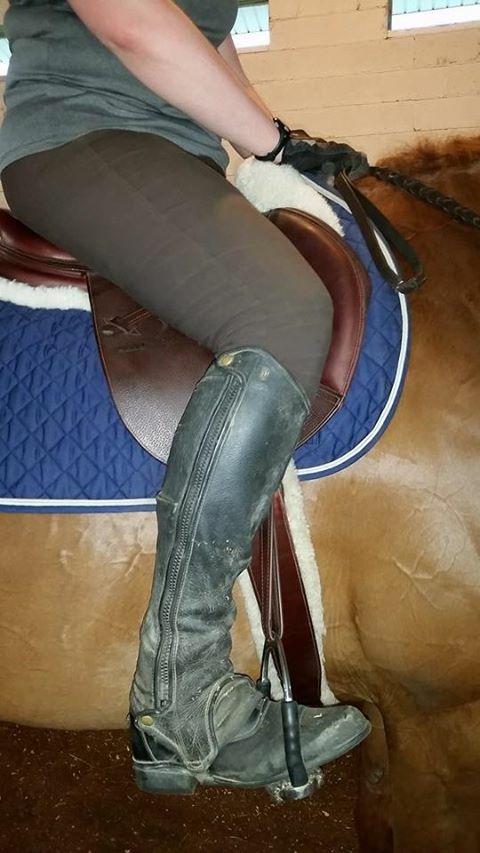 Leg on flap shot