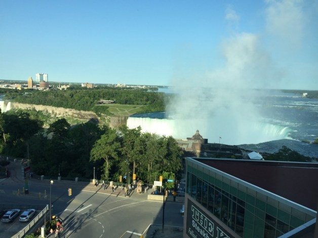 Canadian Niagara Falls - view from our hotel room