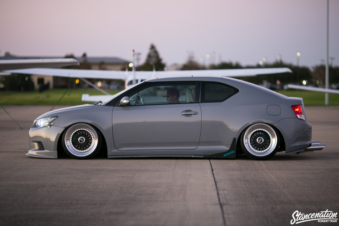 Slammed Scion tC-18