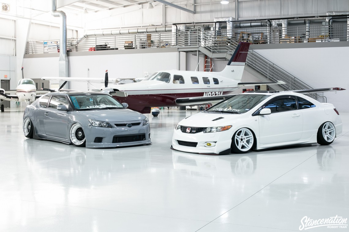 Slammed Scion tC-5