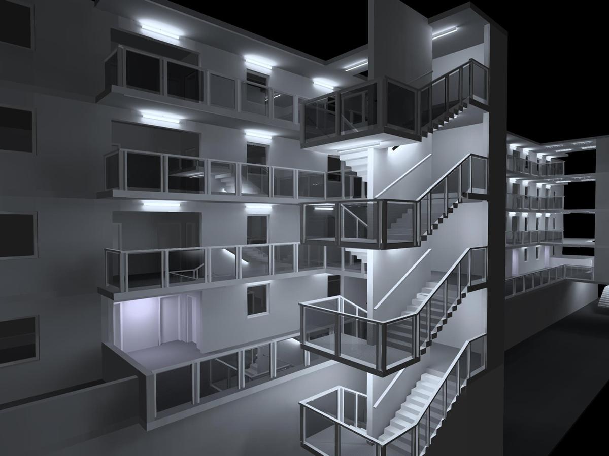 Eclairage façade résidence