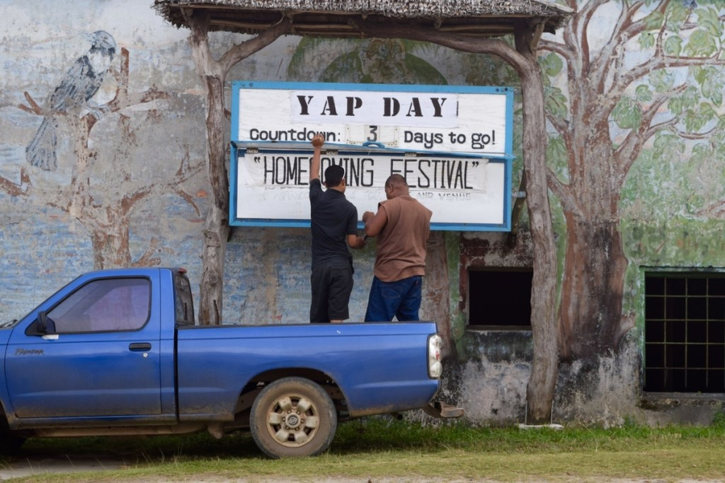 Explore the Land of Stone Money - Yap Day preparations, Federated States of Micronesia