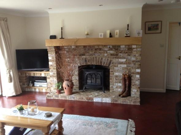 Fireplace Installation and Lounge Repaint, Yateley